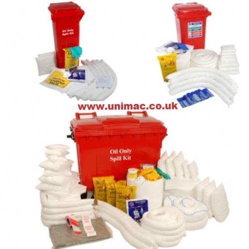 Oil Only Wheeled Bin Spill Kits